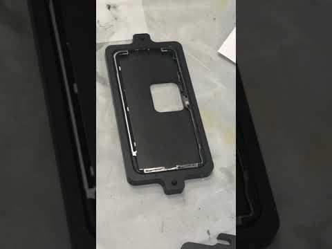 IPHONE X Laminate frame using Black glue and Semi-automatic dispenser