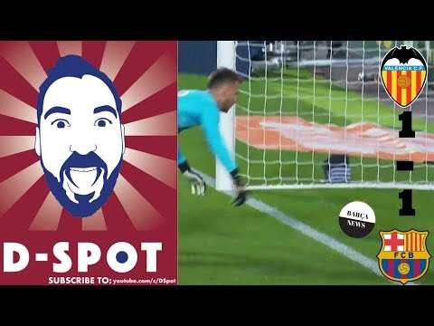 Valencia vs FC Barcelona 1-1 11/27/2017 full match review | Barça News
