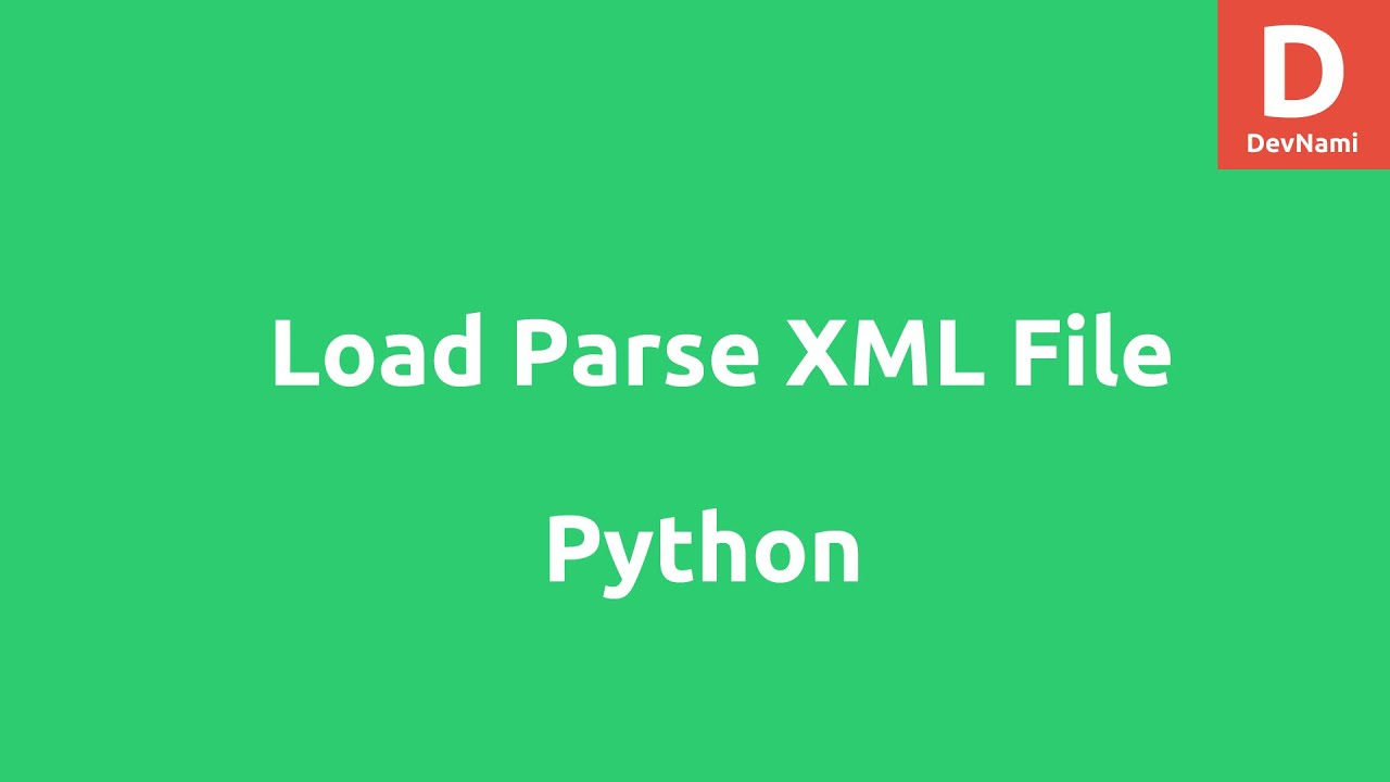 how to read xml file in python