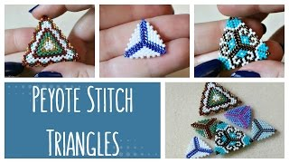 DIY Peyote Stitch Triangles How To // Bead Weaving // ¦ The Corner of Craft