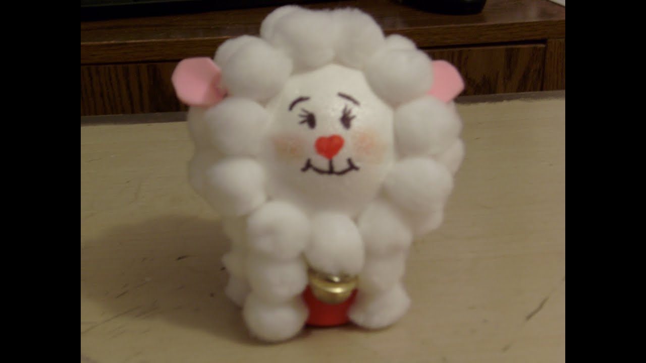 Diy c mo hacer un borreguito de unicel muy simpatico - Como hacer una oveja ...