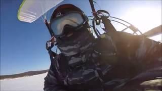 Зимние полеты Александра Рудых под Иркутском
