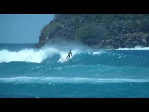 Surfing at Hull Bay, US Virgin Islands