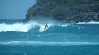 Surfing at Hull Bay, US Virgin Islands