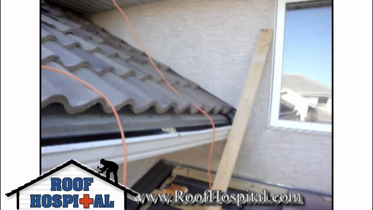 Concrete And Clay Tile Roofing Installation Youtube