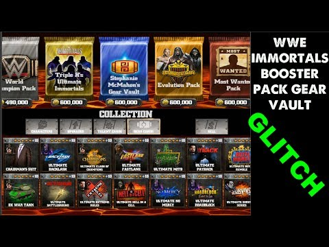 WWE IMMORTALS GLITCH Booster pack |Gear Vault working 2017,Android|ios