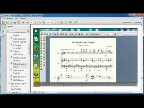 Guida all'uso di Finale NotePad 2012