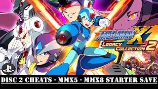[PS4] Mega Man X Legacy Collection - Disc 2 Cheats - MMX5 - MMX8 Starter Save