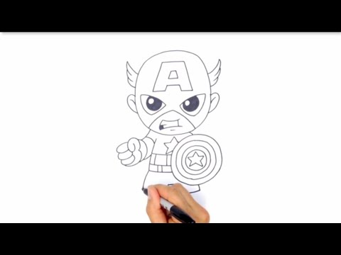 How To Draw Captain America By Art sketches | art sketch thumbnail