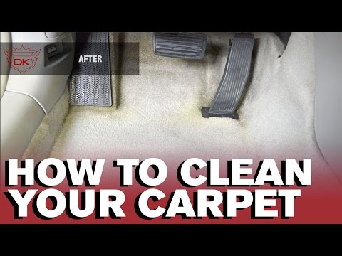 How to clean your Car's Carpet by hand