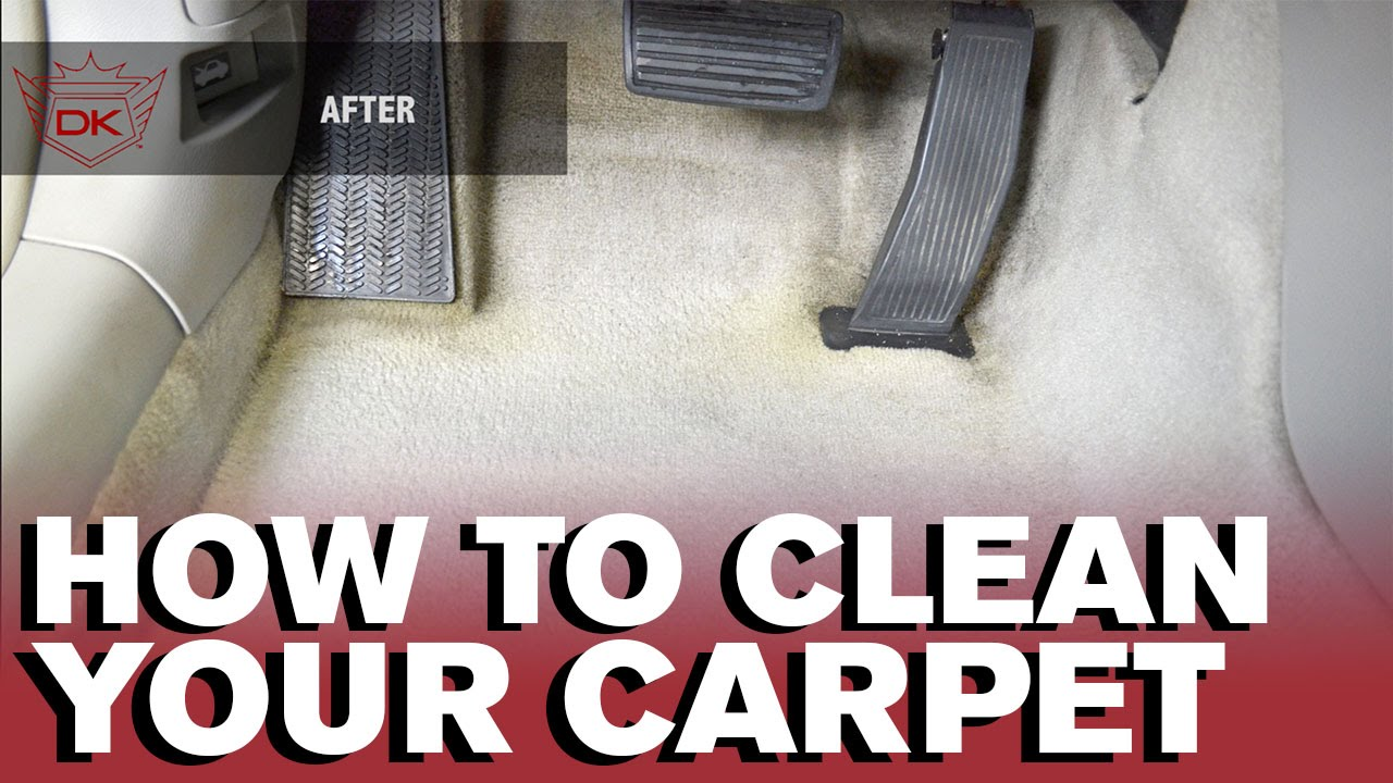 How To Clean Your Car S Carpet By Hand Youtube