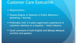 Columbia Asia Hospital Taiping Jobs April 2014
