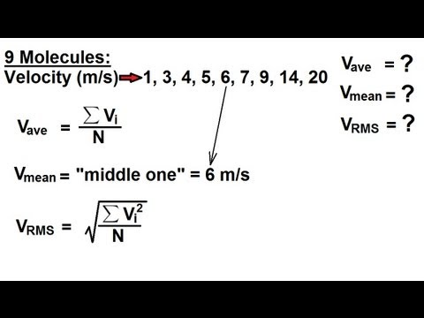 Physics - Thermodynamics: (6 of 10) Average, Mean, and Root Mean Square Velocity
