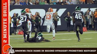 Battling Rams in 2nd Straight Primetime Matchup | Browns 2 Minute Drill