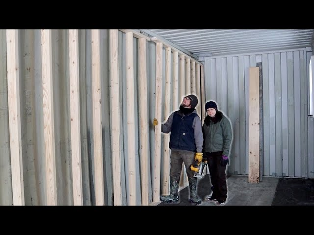 Day 1 Framing Our Shipping Container Cabin Interior Walls This MISTAKE Cost Us