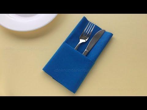 Favorit Servietten falten einfach: Bestecktasche falten - DIY Tischdeko GD68