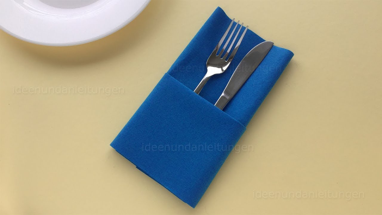 Bestecktaschen Falten Napkin Folding Pocket Easy Way To Fold Napkins Diy
