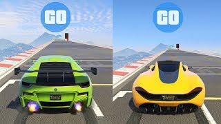 SC1 Vs PROGEN T20   GTA V ONLINE TEST DE VELOCIDAD