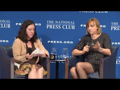 Olympian Katie Ledecky speaks at The National Press Club