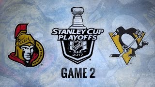 Penguins blank Senators in Game 2, even series