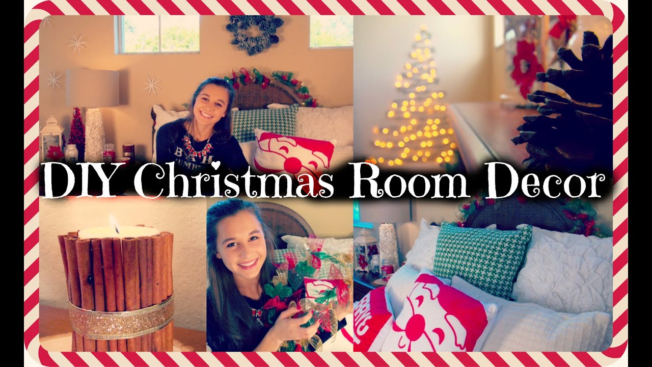 Diy christmas room decor youtube for Diy room decorations youtube