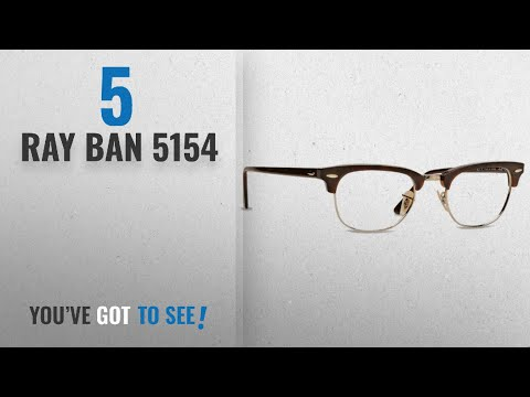 top-10-ray-ban-5154-[-winter-2018-]:-ray-ban-rx5154-clubmaster-eyeglasses-2372-red-havana-49mm