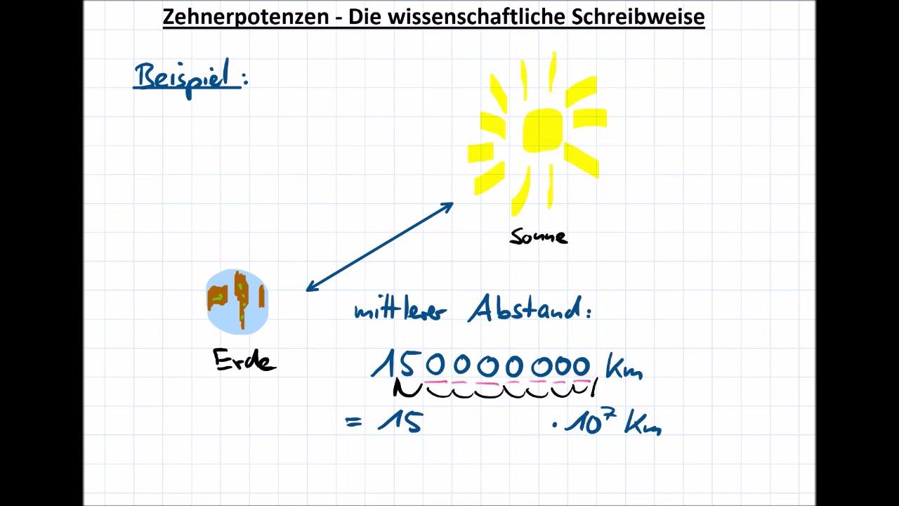 Zehnerpotenzen Die wissenschaftliche Schreibweise - YouTube