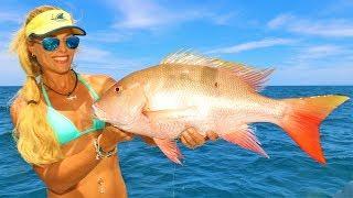 BEST DAY EVER! Deep Sea MUTTON SNAPPER Fishing & Mahi Mahi!