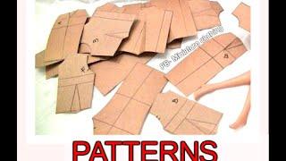 Pattern drafting-Basic patterns for Barbie