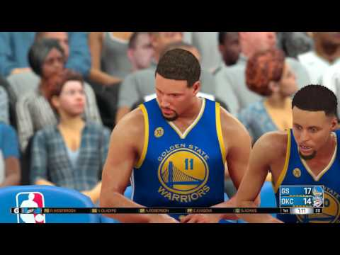 NBA 2k17 - Oklahoma City Thunder vs Golden State Warriors | Full Game (1080p 60fps)