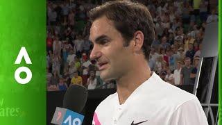Roger Federer on court interview (2R) | Australian Open 2018