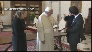 The son of the Irish ambassador gets a special greeting from the Pope