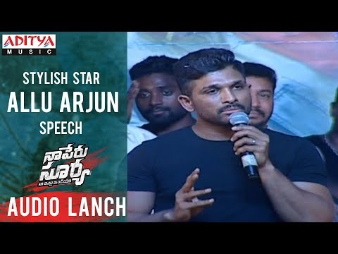Allu Arjun Aggressive Speech @ Naa Peru Surya Na Illu India Audio Launch Live