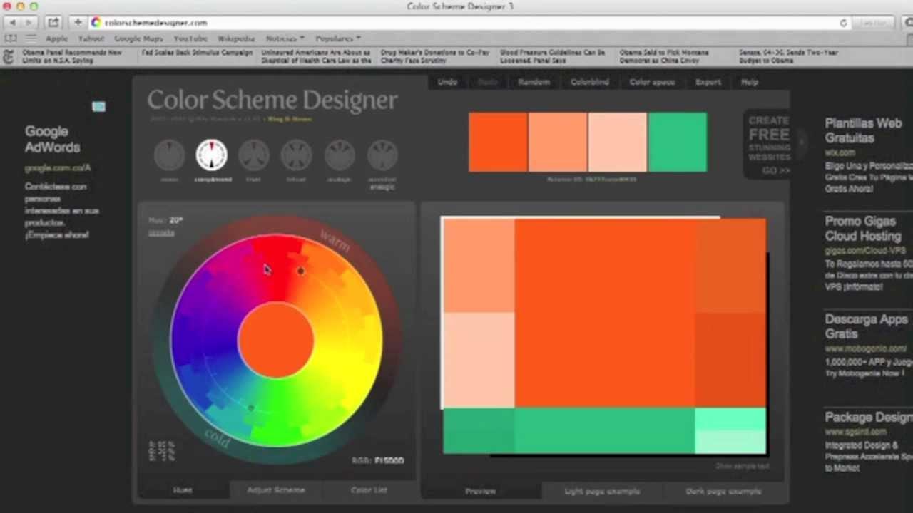 Color Designer combinar la ropa - color scheme designer - brujula de la moda