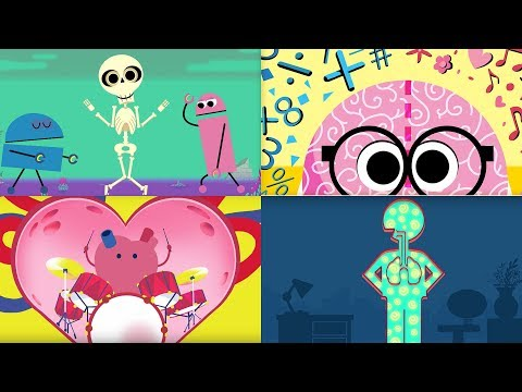 StoryBots | Songs to Learn About The Human Body | Bones, Brain, Heart, Lungs & Stomach | Netflix Jr