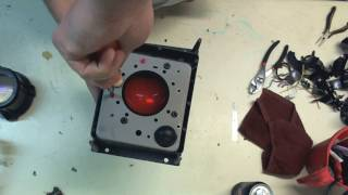 Taking apart a projector lamp from a rear projection tv Part 2