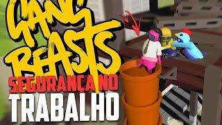 TOTALMENTE SEM SEGURANÇA!- Gang Beasts Momentos Engraçados!