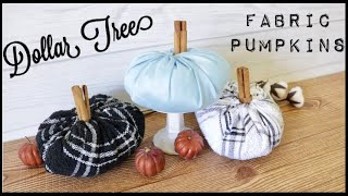 Dollar Tree DIY Fabric Pumpkins