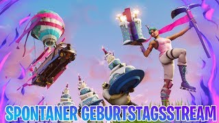 Spontaneous LIVESTREAM on my GEBURTSTAG! 🔥 1 Win = 1 Giveaway 🔥 - Fortnite Battle Royale
