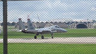 F 15戦闘機離陸 (嘉手納飛行場 Kadena Air Base)