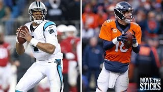 Panthers Cam Newton or Broncos Peyton Manning: Who Will Win Super Bowl 50? | Move the Sticks | NFL