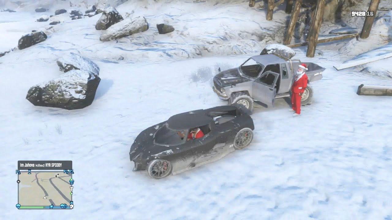 GTA 5 Funny Moments Santa Has A Heart Attack (GTA Online Christmas ...