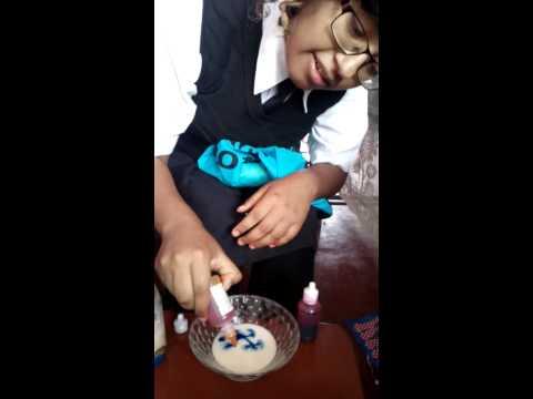 Ciencia y arte! Experimento con leche/la hora de la ciencia con jazmin!