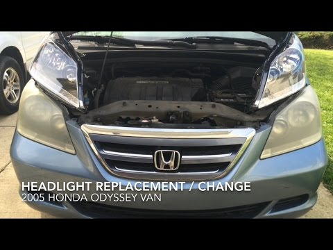 Headlight Replacement Change Honda Odyssey 2005 How To Diy