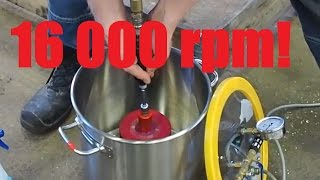 Huge 4kg/8lbs Spinning Top in Vacuum Chamber, 16 000 rpm!