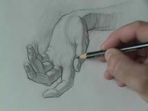 Drawing tutorials online com how to draw the hand shading youtube