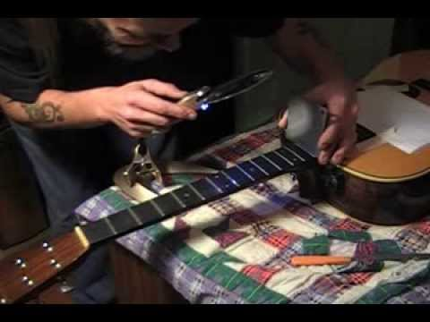 Martin Tyminski Guitar gets a fret job, and a short exercise PART 1