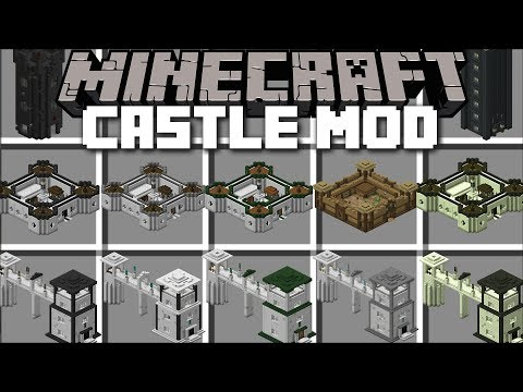 Minecraft CASTLE MOD / BUILD CASTLE'S AND USE THEM TO SURVIVE !! Minecraft