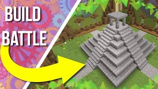 Building An Aztec Temple on BUILD BATTLE!