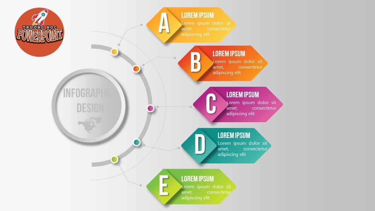 Hướng dẫn tạo Infographic dễ dàng bằng PowerPoint chi tiết | Trường học PowerPoint